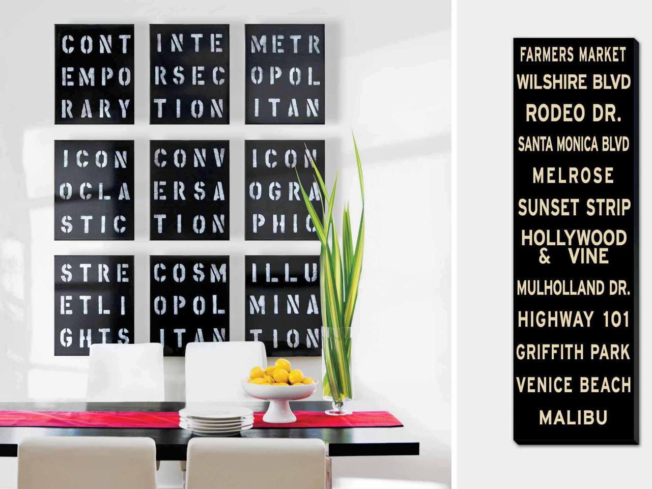 10 typography artwork typographic artwork in dining room