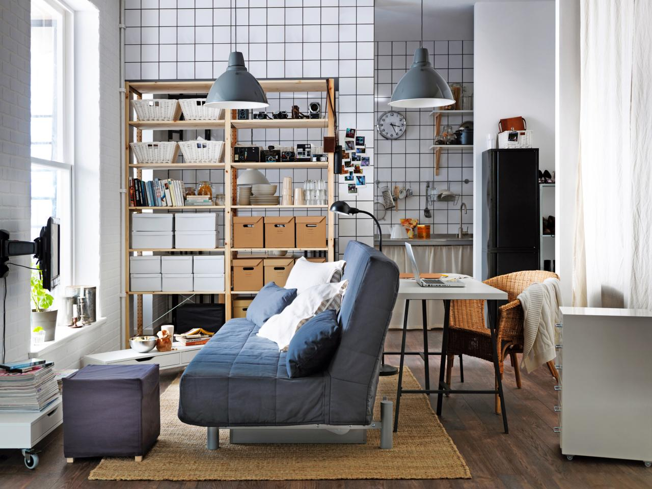 Ikea living room apartment - Use A Bookshelf As A Room Divider