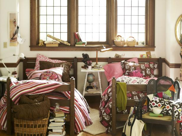 Dorm room storage seating and layout checklist hgtv Bedroom furniture for college students