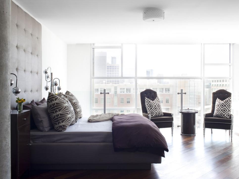 Urban spaces minimalist modern atlanta loft hgtv for Modern loft bedroom