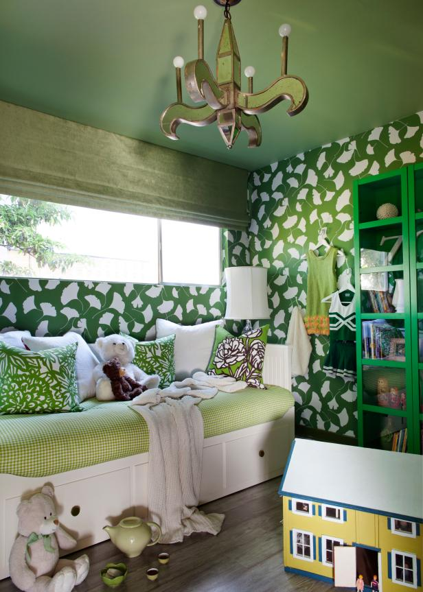 Mid-Century Modern Green Bedroom
