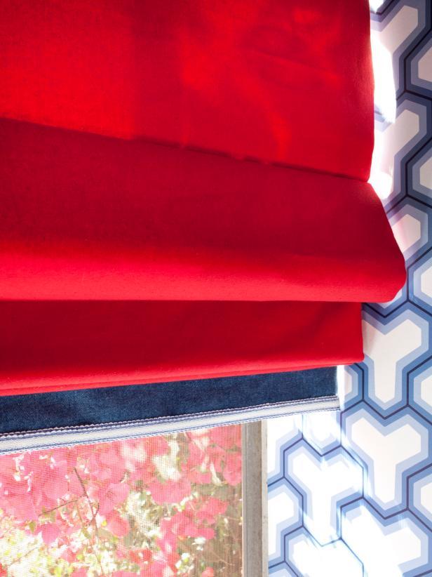 Red Roman Shade