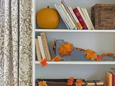Faux Fall Leaf Decor