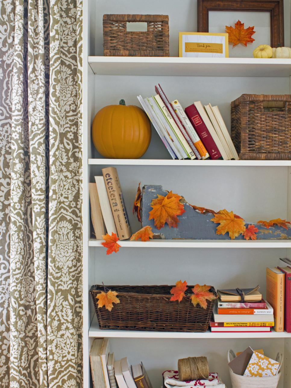 monochromatic decor - Fall Harvest Decor