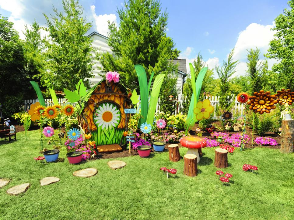 Create a whimsical disney inspired backyard hgtv Yard and garden