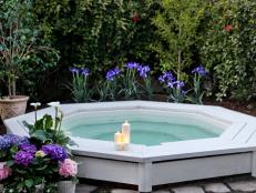 Raised Hot Tub and Simple Floral Landscaping