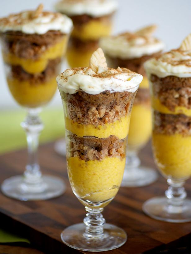 Pumpkin Mousse and Ginger Parfaits