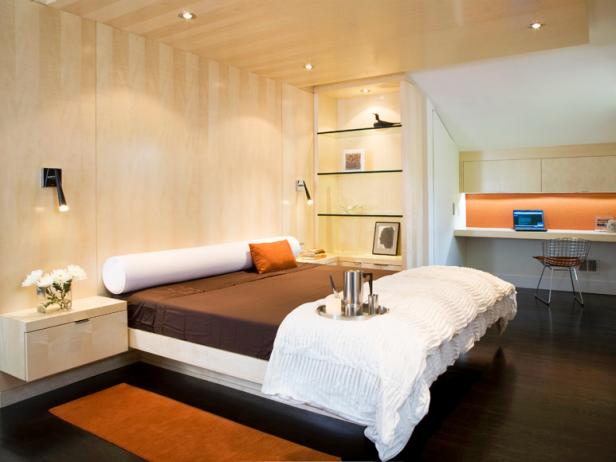 Contemporary Bedroom With Platform Bed Hgtv