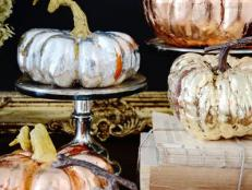 Thanksgiving Metallic Pumpkin Decorations