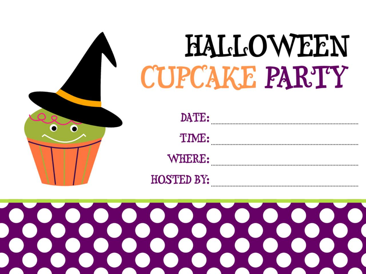 party invites - Halloween Decorations Printable