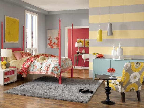 interesting white gray bedroom | Photo Page | HGTV