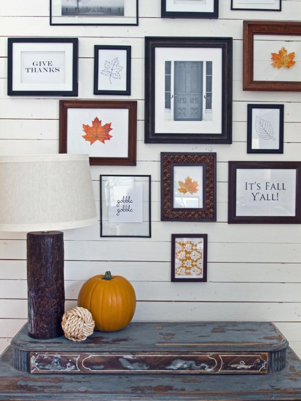 Fall-Themed Gallery Wall