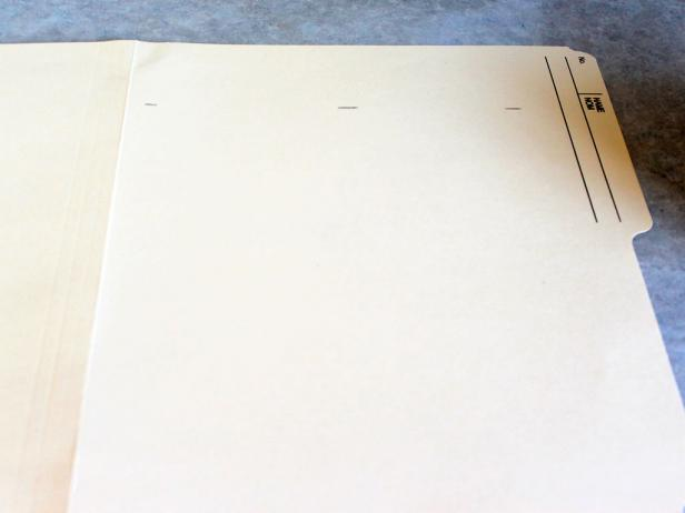 Make a template using a file folder.