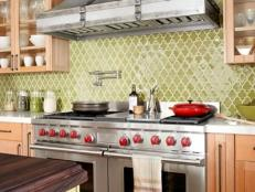 Green Quatrefoil Country Kitchen