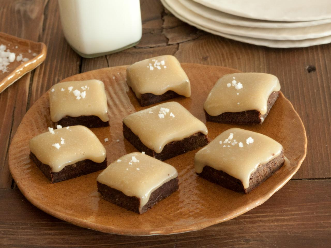 Salted Caramel Topped Chocolate Brownies Recipe HGTV