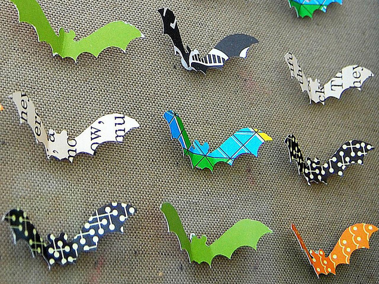 Halloween Bat Decorations Craft For Kids