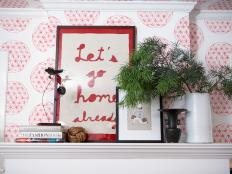 An Eclectic Mantel with Artistic Details