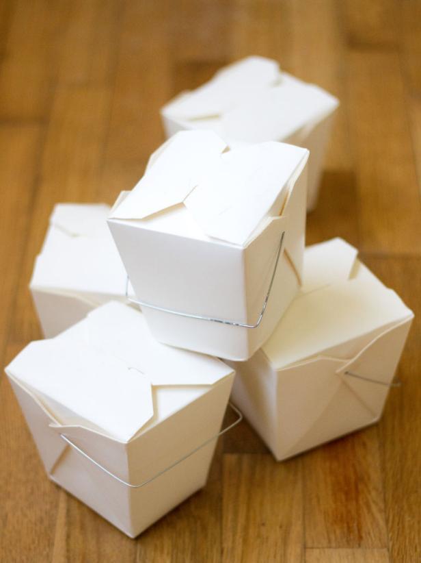 White Takeout Boxes