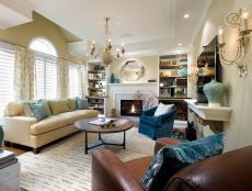 Transitional Living Room Designed to Promote Communication