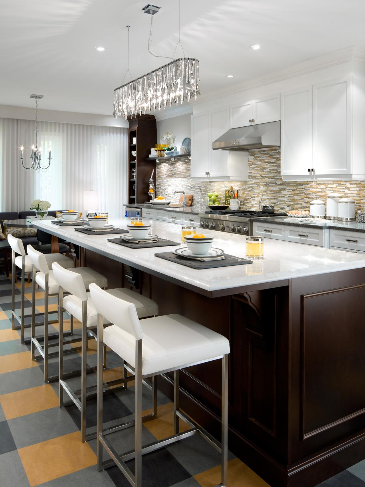 kitchen island with stools hgtv. Black Bedroom Furniture Sets. Home Design Ideas