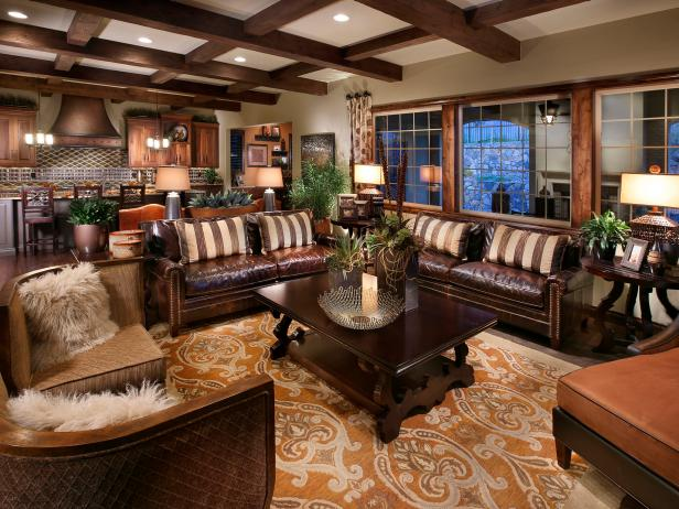 Traditional and Masculine Living Room