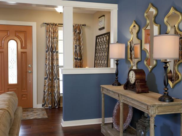 Entryway with Decorative Accent Wall