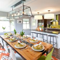 Eat-In Kitchen With Large Dining Table