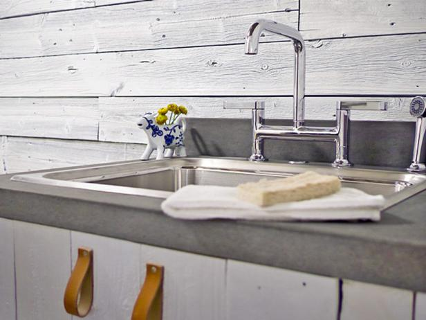 Sleek Sink in Country Laundry Room