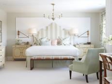 Master Bedroom in Soft Gray and Neutral Tones