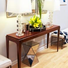 Entryway With Contemporary Console Table