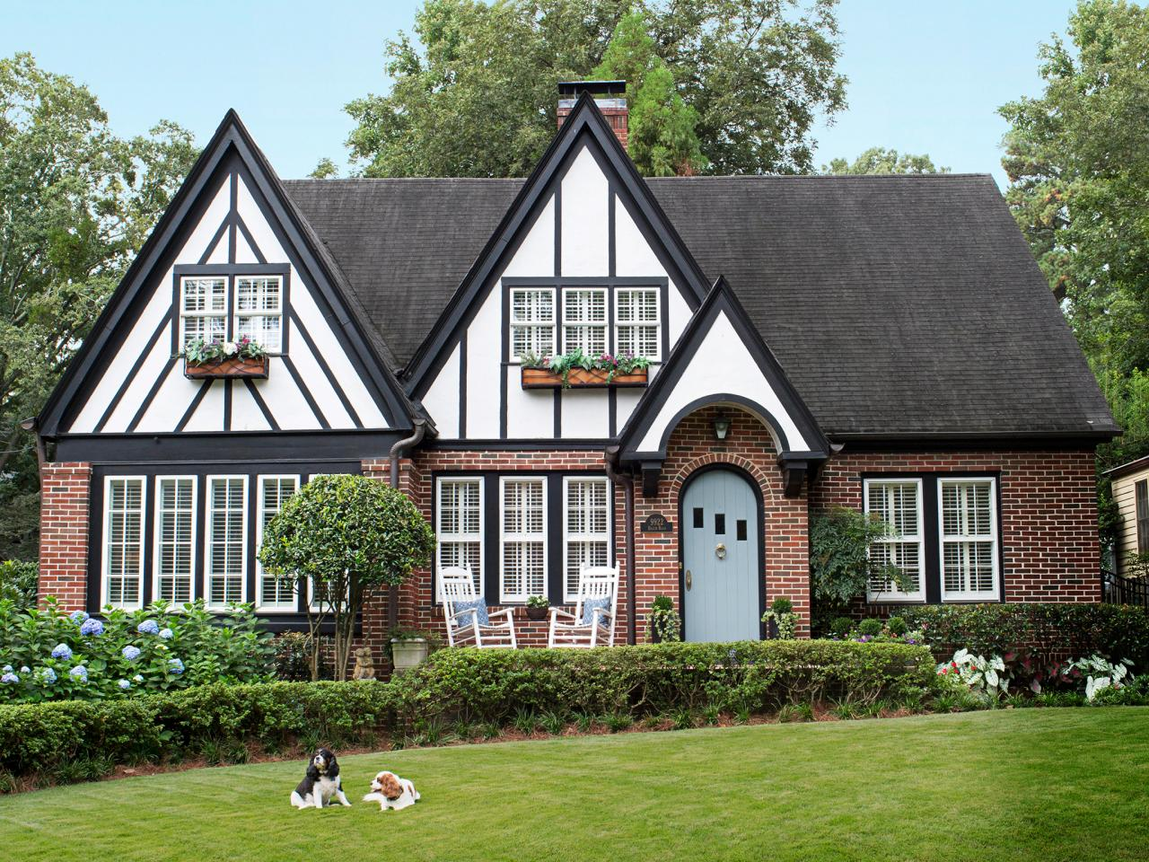 Exterior home decor ideas interior design styles and color schemes for home decorating hgtv for Exterior paint colors for tudor homes
