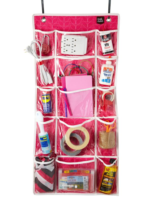 Over The Door Organizer With Clear Pockets