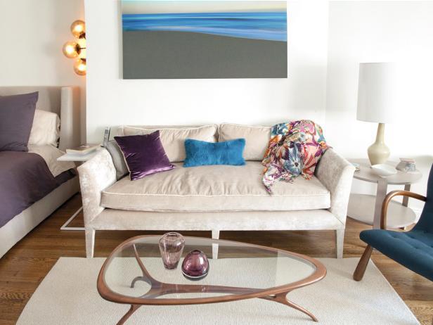 Neutral Midcentury Modern Sitting Area