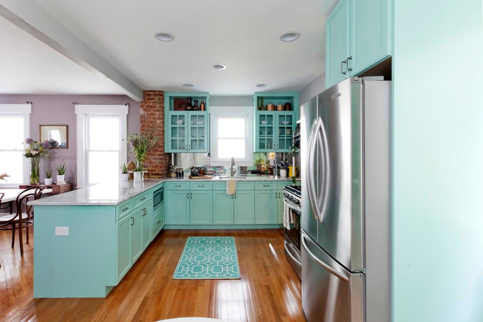 stylish colorful kitchen cabinet design ideas hgtv
