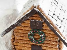 Rustic Log Cabin Gingerbread House