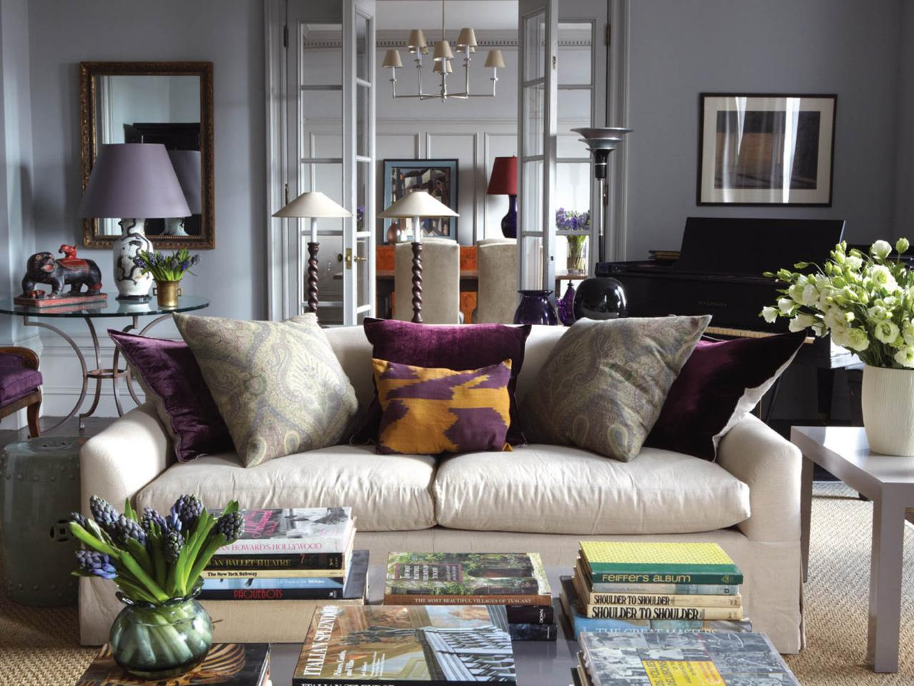 Living Room Ideas Grey And Purple