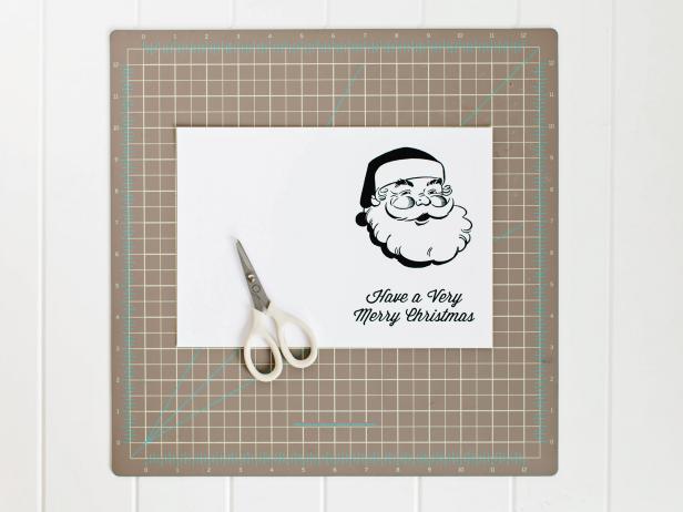 Printable Santa Christmas Card Template
