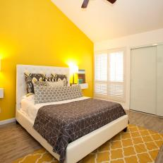 yellow contemporary bedroom photos | hgtv