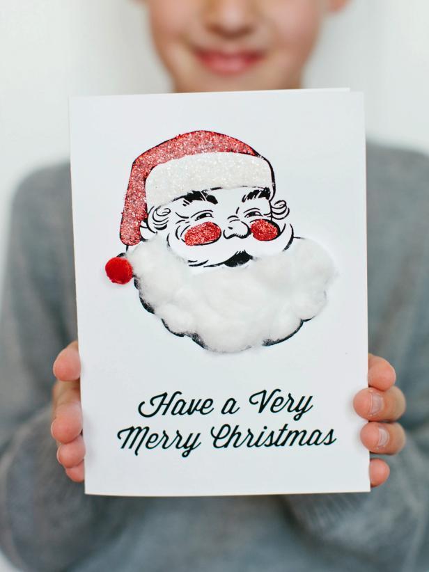 Kids' Craft: Santa Holiday Card