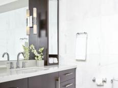 Contemporary Bathroom With Sleek Storage Towers