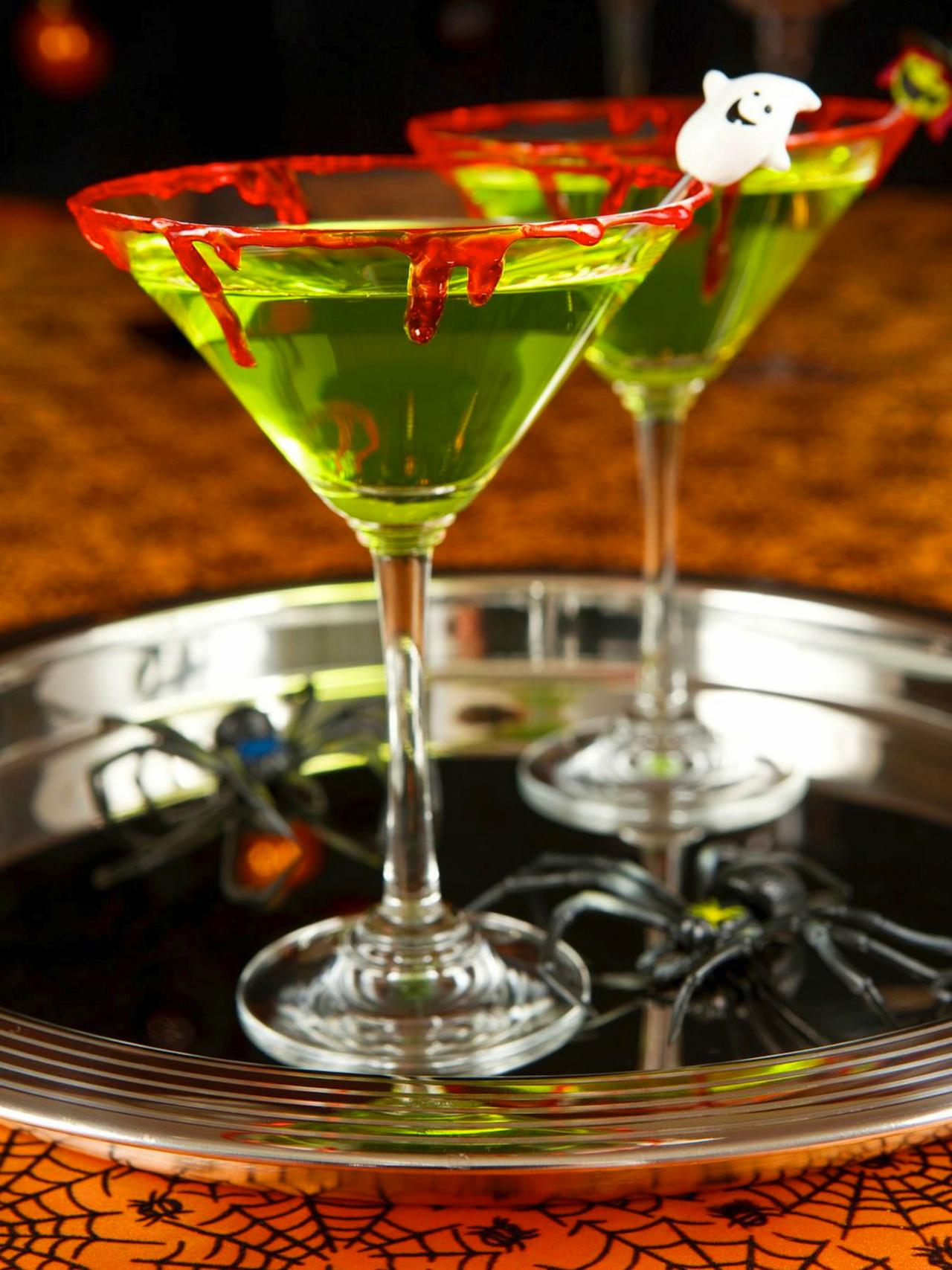 Zombie Slime Shooters Halloween Cocktail Recipe | HGTV