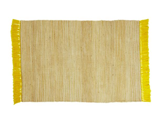 Customize a Jute Rug With Colorful Cotton Fringe