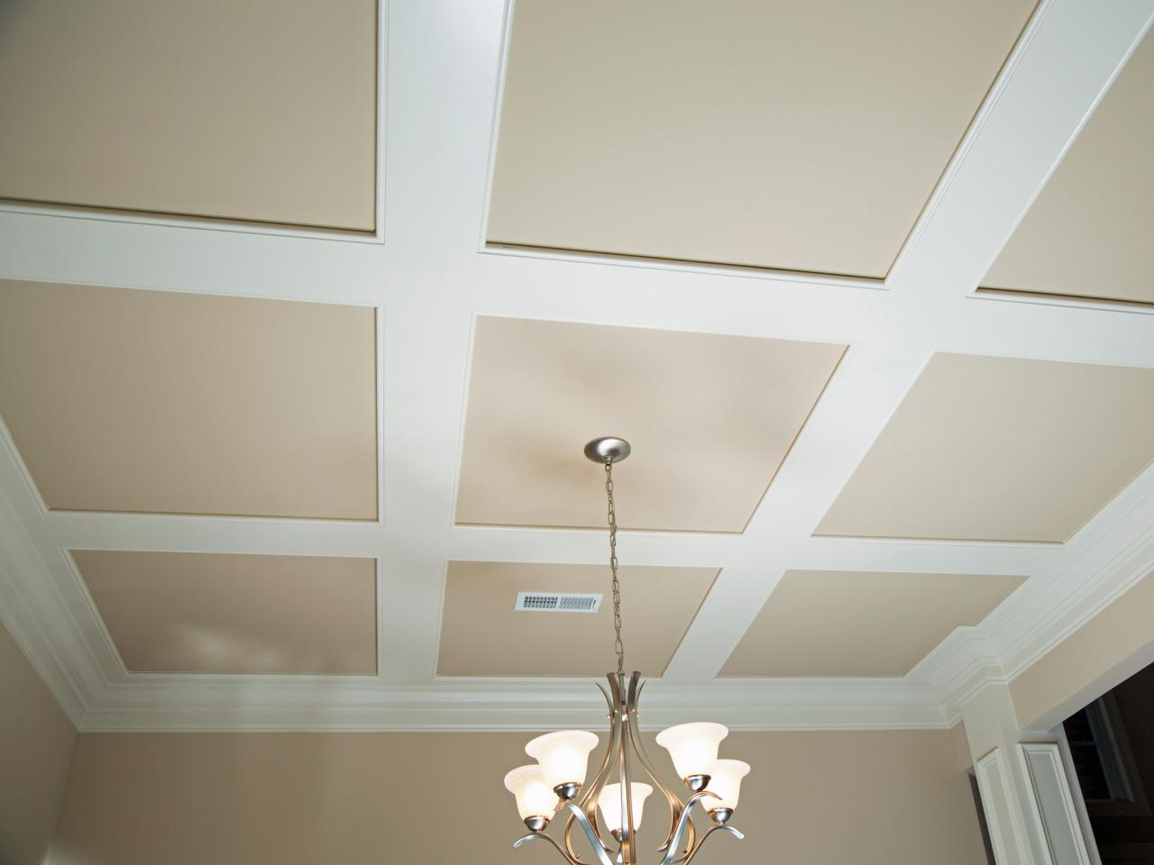 How to Install Grasscloth on a Coffered Ceiling : HGTV