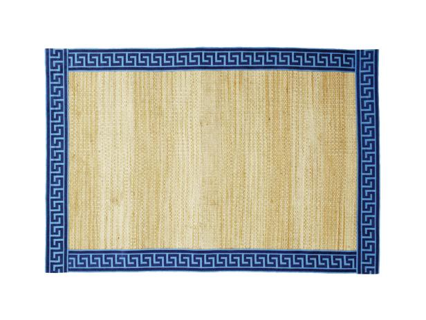 Customize a Jute Rug With Greek Key Ribbon