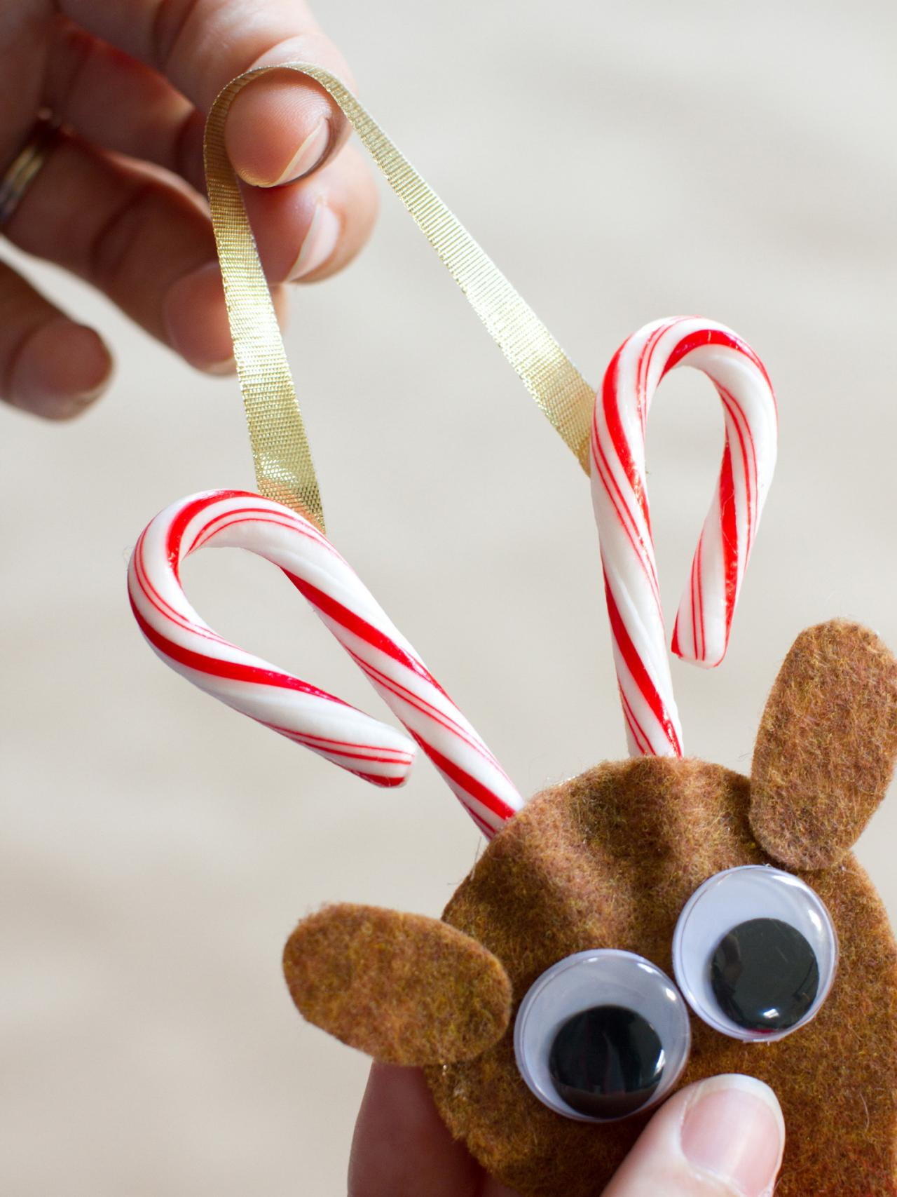 How To Make A Candy Cane Reindeer Ornament