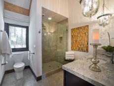 Spacious Contemporary Guest Bathroom