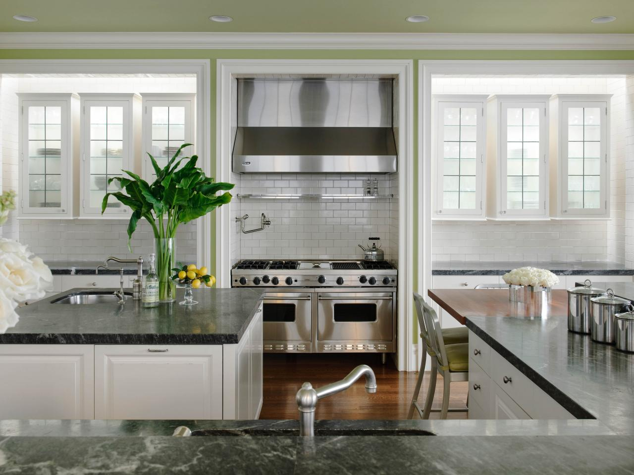 Gray And White Kitchen Designs so many stunning gray and white kitchens including marble countertops and backsplashes subway tiles White Kitchen Countertops