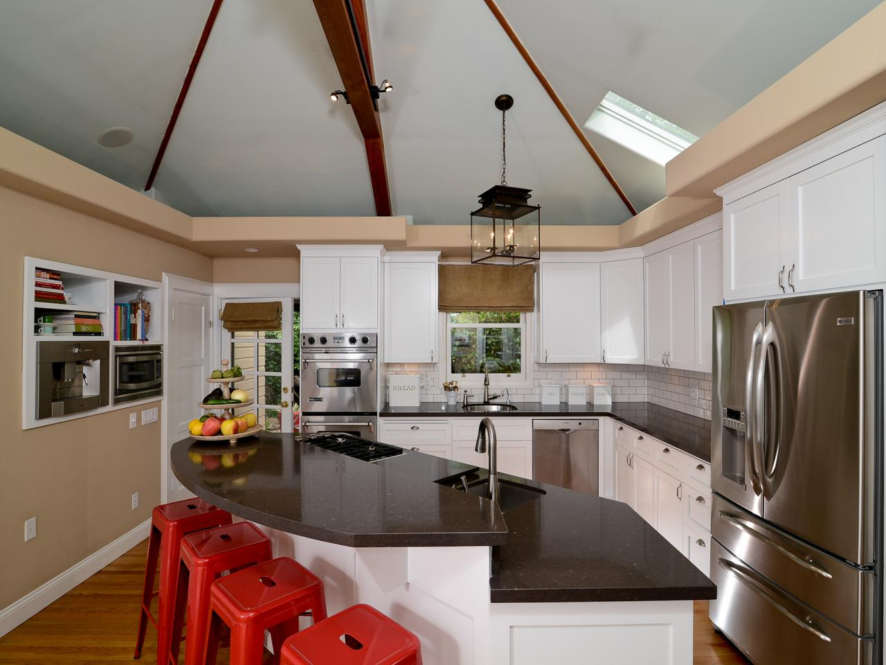 Kitchen With Vaulted Ceilings Painting Kitchen Islands Pictures Ideas Tips From Hgtv Hgtv