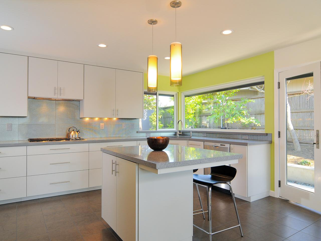 Modern White Kitchen Decor shaker kitchen cabinets: pictures, ideas & tips from hgtv | hgtv