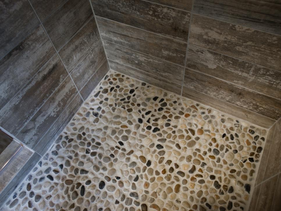 Lovely 114 Pebble Stone Shower Floor Photos